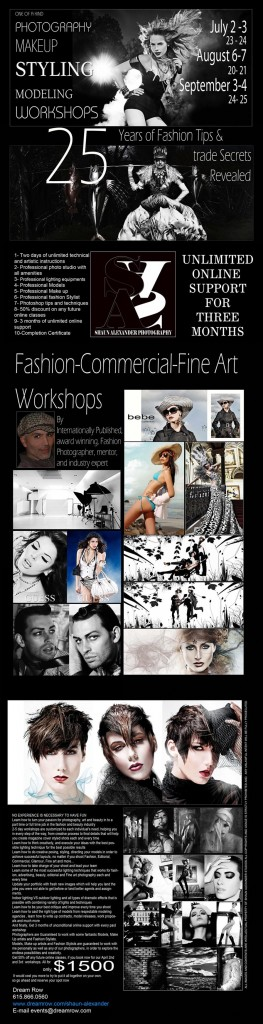 fashion photography workshops los angeles by Shaun Alexander Photography